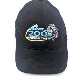 Starfest 2005 Star Wars Snapback Vintage Hat Black